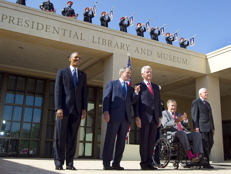 George HW Bush and al of the Presidents'